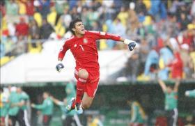 El portero de la selección de fútbol de México, Richard Sánchez