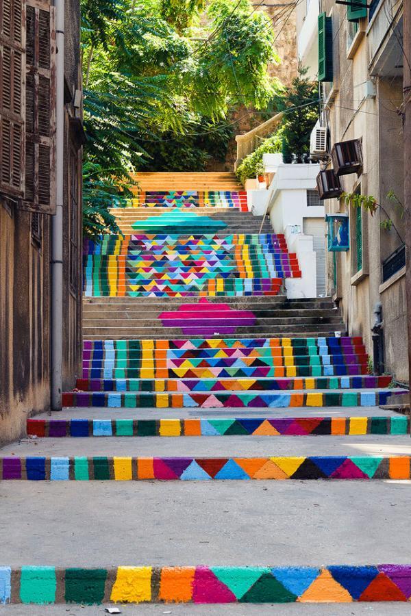 Escaleras en Beirut, Líbano