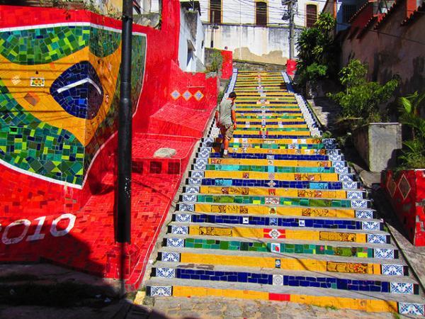 Escaleras en Río de Janeiro. Brasil