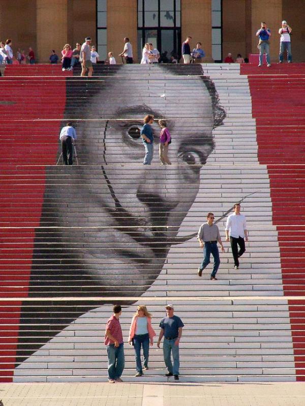 Escaleras del Museo de Arte de Filadelfia