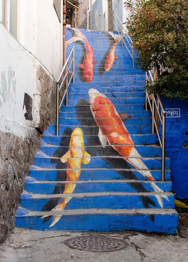 Escaleras en Seul