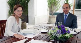 Vázquez Mota con el presidente Felipe Calderón