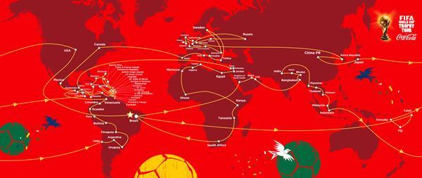 Ruta Global del Tour del Trofeo Copa Mundial FIFA 2014 Presentado por Coca-Cola