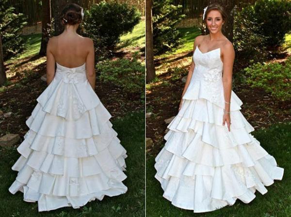 los vestidos de novia más bonitos de papel de baño | quiminet