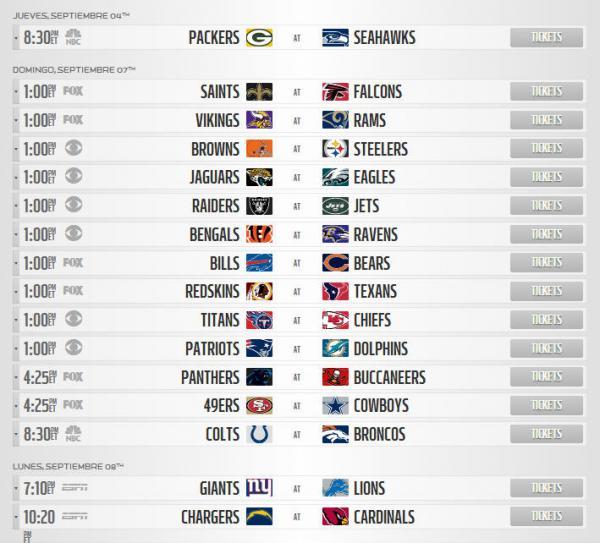NFL 2014 Semana 1