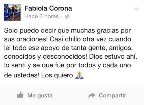 Fabiola Corona en Facebook
