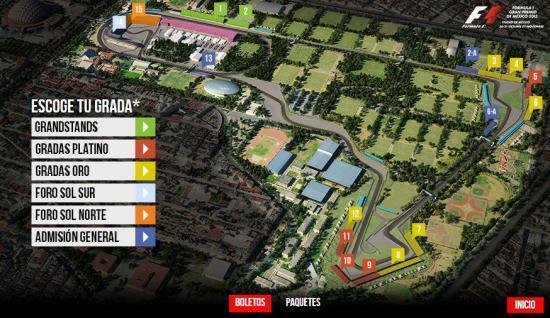Precios Gran Premio Mexico F1