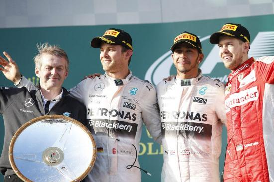 Podio GP Australia 2015