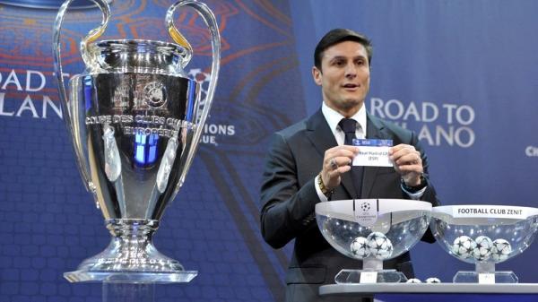 Javier Zanetti Sorteo UEFA Champions League