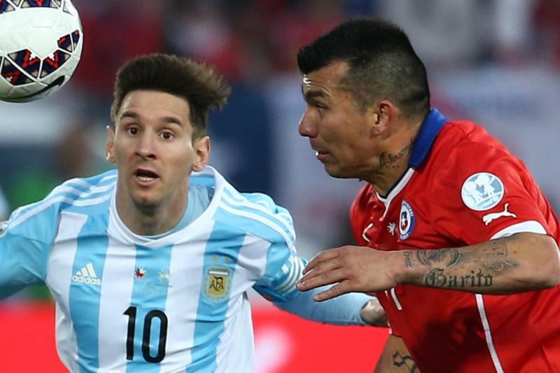 Chile Argentina Lionel Messi