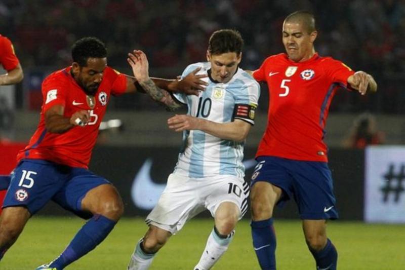 Lionel Messi Argentina Chile
