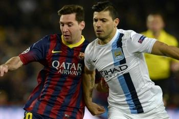 Lionel Messi Barcelona Kun Agüero Manchester City