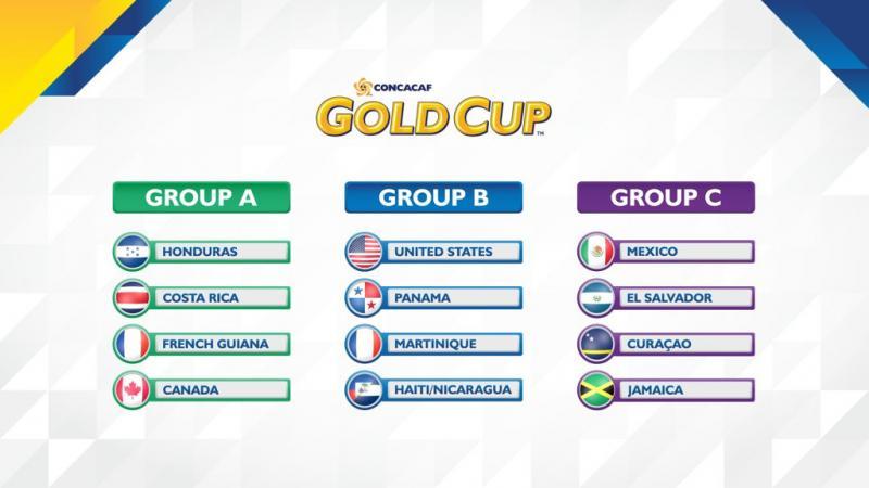 Grupos Copa Oro 2017