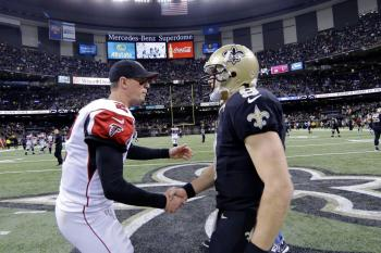 New Orleans Saints Atlanta Falcons Drew Brees Matt Ryan